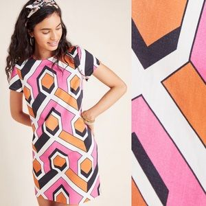 ANTHRO Corey Lynn Calter Geometric Shift Dress XS